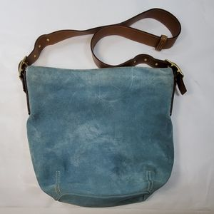 COACH BLUE SUEDE PURSE